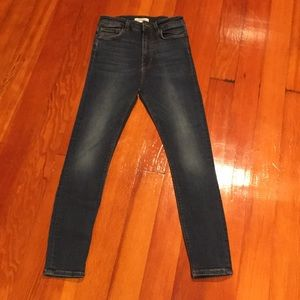 Zara Woman High Rise Stretch Jeans